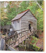 1267 Great Smoky Mountain Cable Mill Wood Print