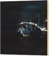 Light Painting Photography Wood Print
