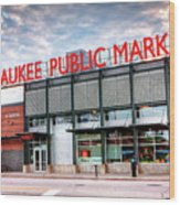 1275 Milwaukee Public Market Wood Print