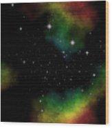 Abstract Stars Nebula Wood Print