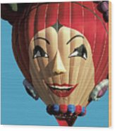 Carmen Miranda Balloon In Albuquerque Wood Print