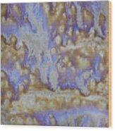 13. Cascade Brown Glaze Painting Wood Print