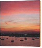 13- Crimson Dream Wood Print