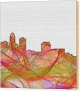 Des Moines Iowa Skyline Wood Print