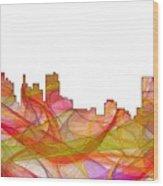 Detroit Michigan Skyline Wood Print
