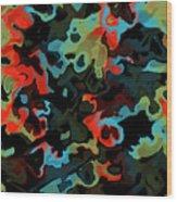 Fractal Modern Art Seamless Generated Texture Wood Print