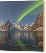 Hamnoy Lofoten - Norway Wood Print
