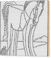 Homer: The Iliad Wood Print