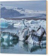 Jokulsarlon - Iceland Wood Print