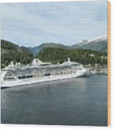 ketchikan alaska downtown of a northern USA town Wood Print