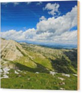 Mountain Panorama, Italy Wood Print