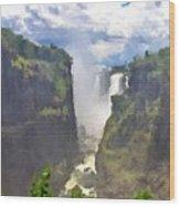 Oil Paintings Landscapes Wood Print