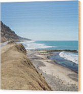 Pacific Ocean Big Sur Coatal Beaches And Landscapes Wood Print