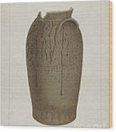 Stoneware Jar Wood Print
