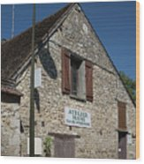 Street Scenes From Giverny France Wood Print