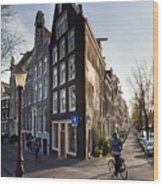 Streets Of Amsterdam Wood Print