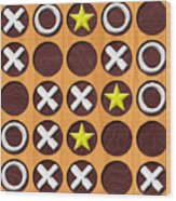 Tic Tac Toe Wooden Board Generated Seamless Texture Wood Print