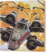 Trilogy Star Wars Poster Wood Print