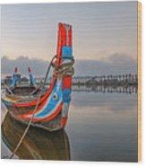 U Bein Bridge - Myanmar Wood Print