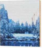 Landscape On Nature Wood Print