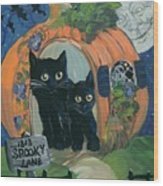 1313 Spooky Lane Wood Print