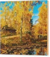 Oil Painting Landscape Pictures Nature Wood Print
