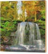 Nature Landscape Graphics Wood Print