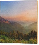 Nature Landscape Light Wood Print