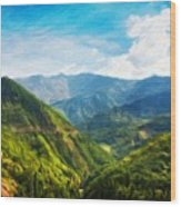 Landscape Nature Art Wood Print