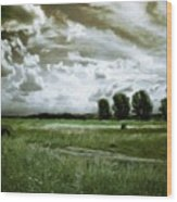 Landscape Oil Painting Nature Wood Print
