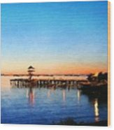 Nature Landscape Oil Painting For Sale Wood Print