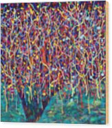 14-26 Green Forest Tree Wood Print
