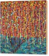 14-50 Autumn Tree Wood Print