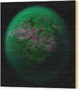 Abstract Planet Wood Print
