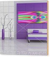 An Example Of Modern Art By Rolf Bertram In An Interior Design Setting Wood Print