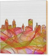 Buffalo New York Skyline Wood Print
