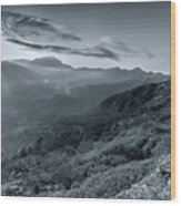 Chilly Winter Sunrise At Lunhgthang Sikkim West Bengal India Wood Print