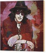 Deep Purple. Ritchie Blackmore. Wood Print