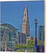 Downtown Hartford Wood Print