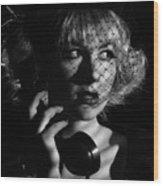 Film Noir Wood Print