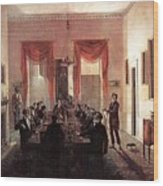 Jlm-1820-henry Sargent-the Dinner Party Henry Sargent Wood Print