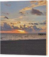 14- Juno Beach Pier Wood Print