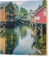 ketchikan alaska downtown of a northern USA town Wood Print