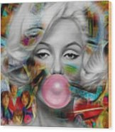 Marilyn Monroe Collection Wood Print