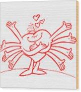 Mr Redhair Serie Wood Print