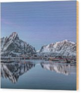 Reine, Lofoten - Norway Wood Print