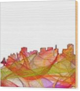 San Francisco California Skyline Wood Print