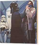 Star Wars Episode 6 Art Wood Print