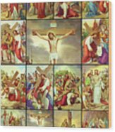 14 Stations Of The Cross Wood Print