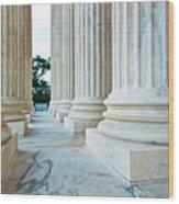 Supreme Court Building Washington Dc Wood Print